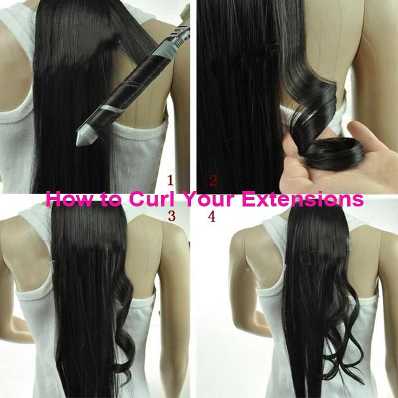 CLEARANCE Clip in Human Hair Extensions Full Head 100% Real Remy Hair Long Soft 5