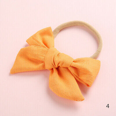 Baby Kids Toddler Soft Cotton Bow Tie Ring Nylon Headband Girls Hair Accessories 5