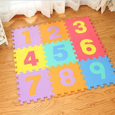 10 x Baby Soft EVA Foam Play Mat Alphabet Numbers Puzzle DIY Toy Floor Tile Game 2