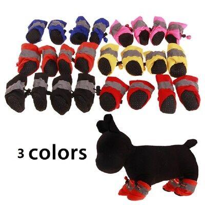 4 pcs Waterproof Pet Dog Shoes Anti-slip Rain For Small Cats Puppy Socks Booties 2
