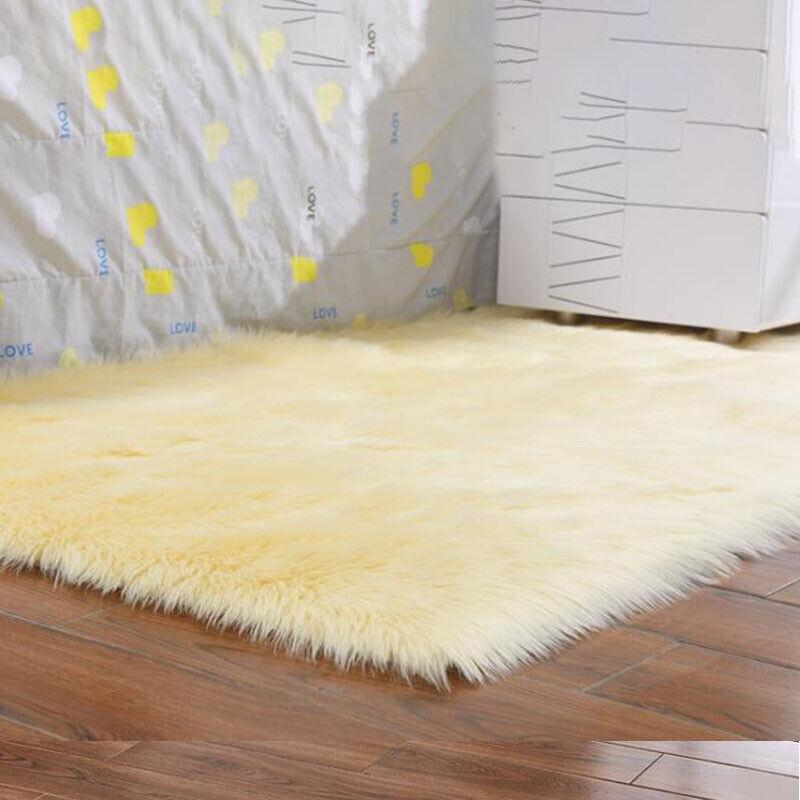 Washable Fluffy Rug Anti-Skid Shaggy Rugs Carpet Living Room Bedroom Floor Mats 7