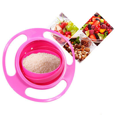 Baby Kids Infant Feeding Dishes Gyro Bowl Universal 360 Rotate Spill Proof Bowl 4