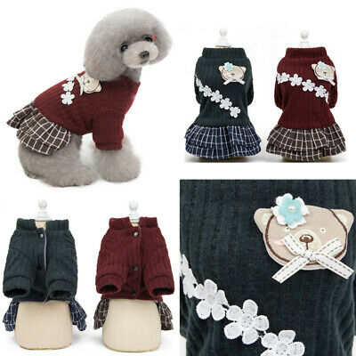 2019 New Puppy Pet Dog Clothes Hoodie Winter Warm Sweater Coat Costumes Apparel 11