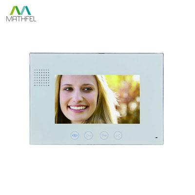 """4 Draht Video Türsprechanlage mit Codeeingabe und 2 x 7"""" Monitor (weiß) 4"""