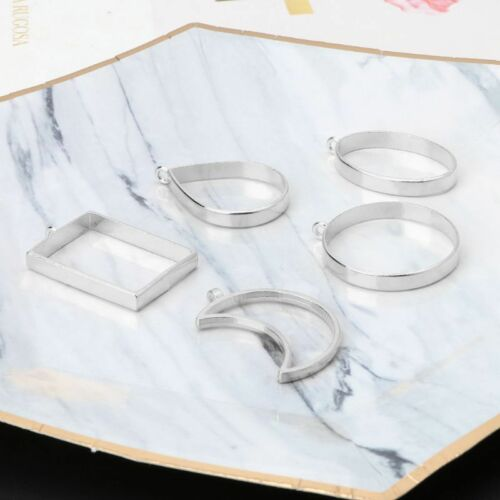 10Pcs Geometric Hollow Pressed Flower Resin Blank Frames Pendants Jewelry Making 11