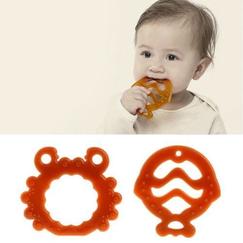 Baby Silicone Fruits Pendant Teether Soother Chew Toy Teething Necklace  LS
