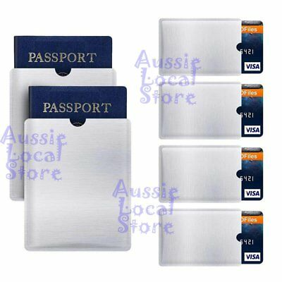 RFID Blocking Sleeve Secure Credit Card ID Protector Anti Scan Safet 4xL + 10xS 6