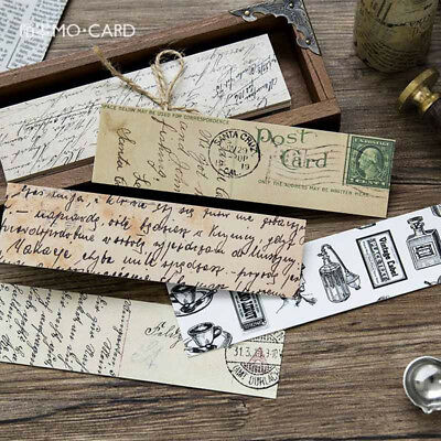 30pcs/Box Vintage Bookmark Paper Book Mark Magazine Label Memo Office Stationery 3