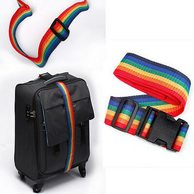 Rainbow Travelling Backpack Luggage Suitcase Strap Adjustable Nylon Strapping 2