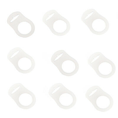 10pcs Clear Silicone Button MAM Ring Dummy / Pacifier Holder Clip Adapter HOT 9