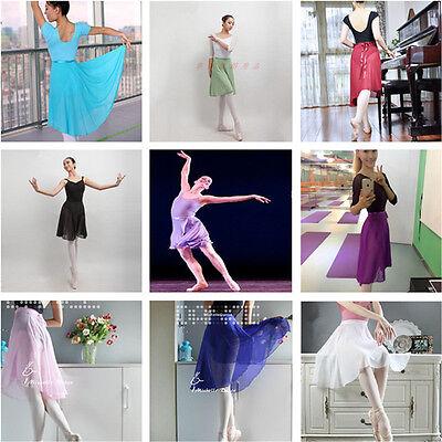New Girl's & Women's Ballet Skirt Dance Skate Wrap Scarf  10 colours