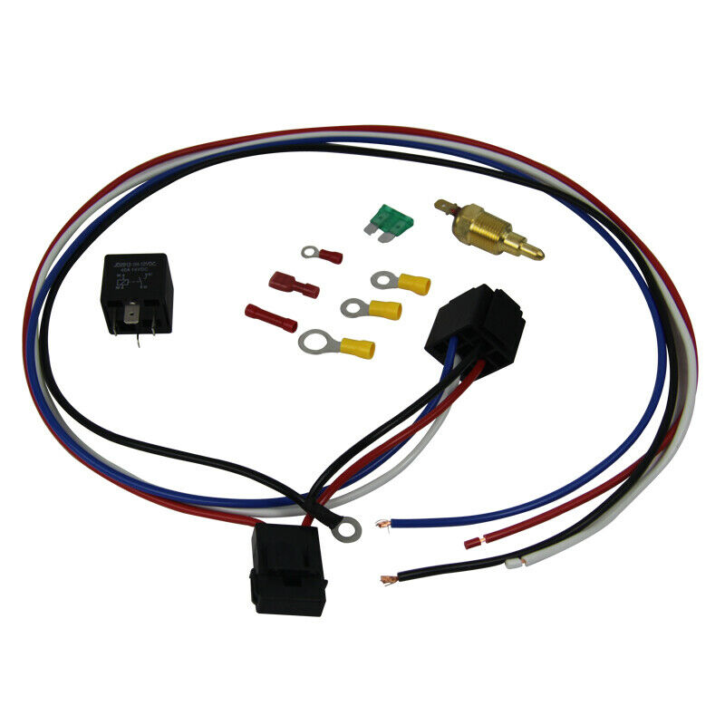 Electric Cooling Thermostat Relay Fan Kit Sensor Temperature Switch Wiring 5