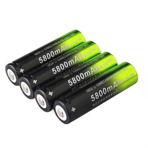 4Pcs 5800mAh 3.7V 18650 Li-ion Rechargeable Batteries Replacement @Love 5