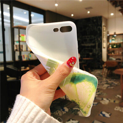 For iPhone X 8 6s 7 Plus Cute Fruits Pattern Slim Relief Matte Soft Case Cover 11