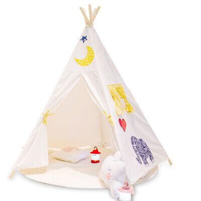 New Kids Teepee wigwam childrens play tent childs garden indoor toy 5' Canvas UK 9