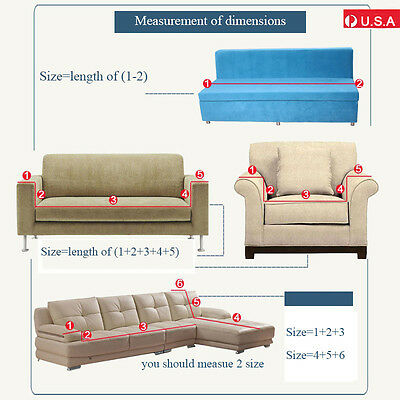 1-3 Seater Stretch Loveseat Sofa Couch Protect Cover Slipcover Washable Elastic 9