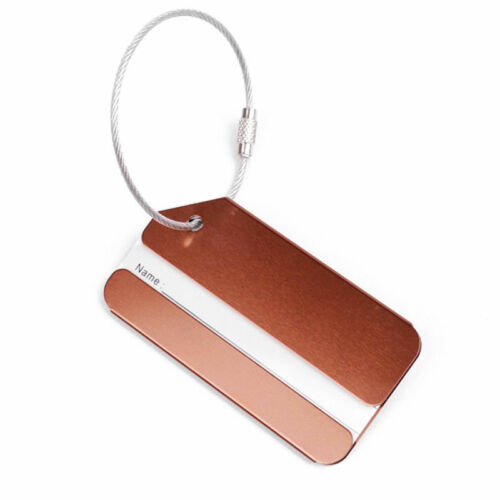New 1PC Aluminium Luggage Tag Suitcase Label Name Address ID Bag Baggage Tag Hot 6