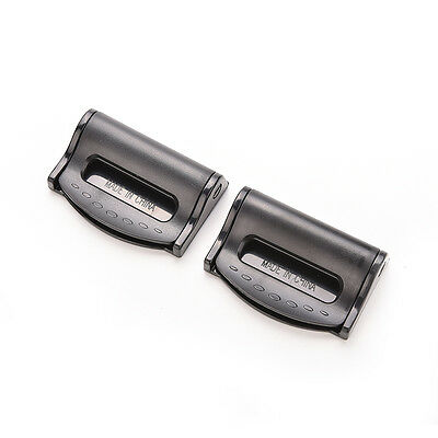 2Pcs Car Seat Belt Safety Adjuster Clips Clamp Stopper Buckle Improves ComfortPB 3