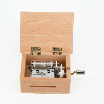 DIY Hand-cranked Music Box Wooden Box Hot Gift With Hole Puncher And Paper Tapes 4