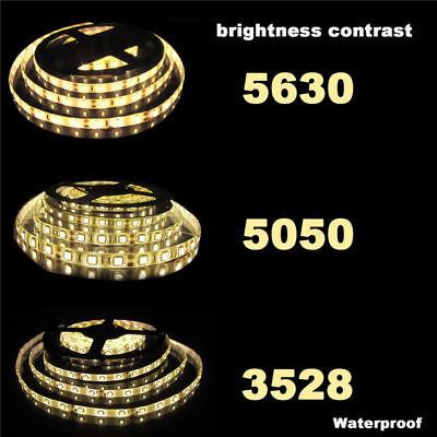 5M 10M 15M 20M 12V 3528 5050 5630 LED Flexible Strip Light Warm White Tape 3