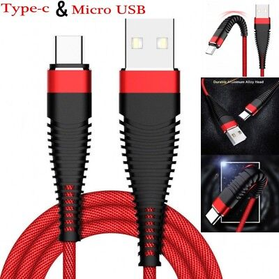 Fast Charging Cable Cord USB-C Type-C 3.1 Nylon Braided Data Sync Charger j-c CA 2