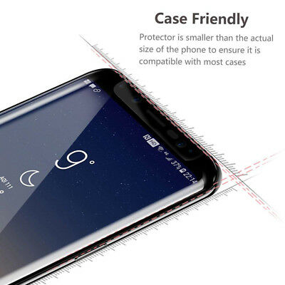 Samsung Galaxy S9 S8 S10 Plus Case Friendly Real Tempered Glass Screen Protector 6