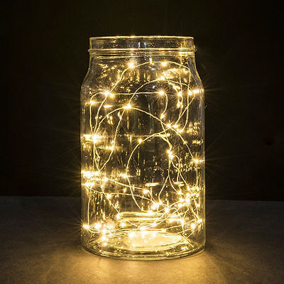 LED String Copper Wire Fairy Lights Battery USB 12V Xmas Party Fairy Decor Lamp 2