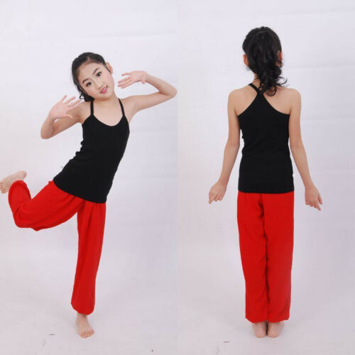 Kids Girls Boys Harem Loose Trousers Baggy Bloomer Pants Children Dance Bottoms 9