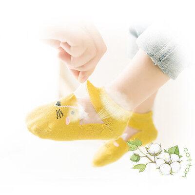 5 Pairs Baby Boy Girl Cartoon Cotton Ankles Socks Newborn Infant Toddler Soft 7