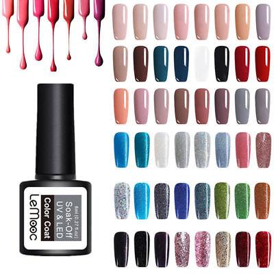 LEMOOC 8ml Esmalte de Uñas UV Gel Nail Art UV Gel Polish Soak off Gel UV Color 4