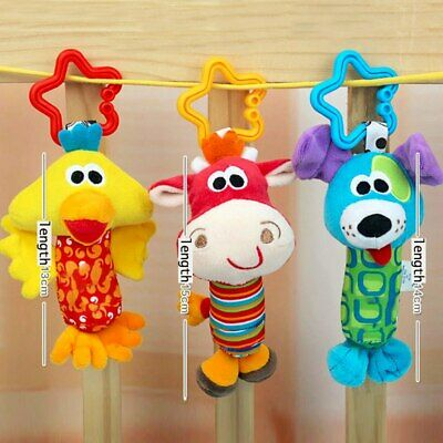 Newborn Baby Bed Stroller Rattle Soft Plush Mobile Toy Kids Ring Bell Crib Doll 5