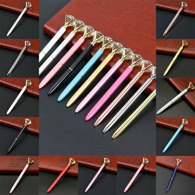 1/2pcs Crystal Ballpoint Pen Write BLING DIAMOND ON THE Scepter Writing Various 9
