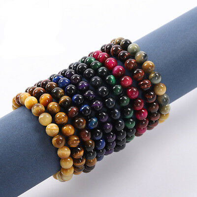 Wholesale Natural Gemstone Round Spacer Loose Beads For Bracelets Jewelry Making 2