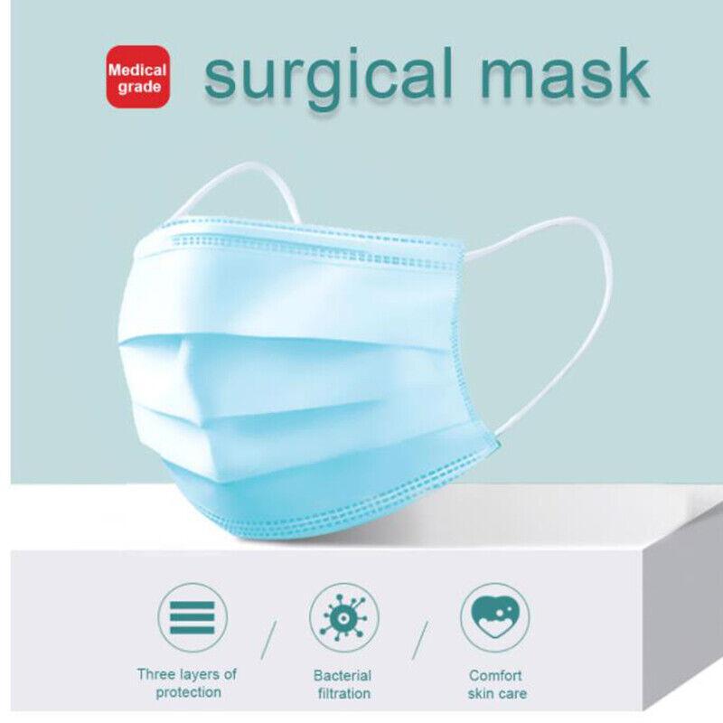10/20/50X mascarillas desechables quirúrgico médico dental industrial 3 capas 2