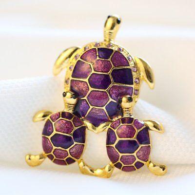 Rhinestone Crystal Animal Frog Turtle Elephant Cat Dog Brooch Pin Women Jewelly 9