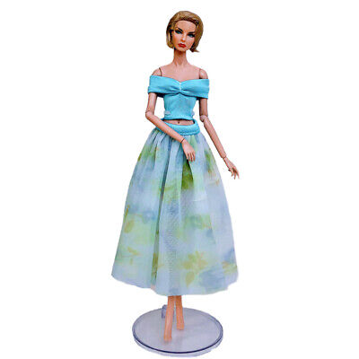 "Fashion Doll Clothes For 11.5"" Doll Dress Outfits Gown Top Floral Midi Skirt 1/6 4"