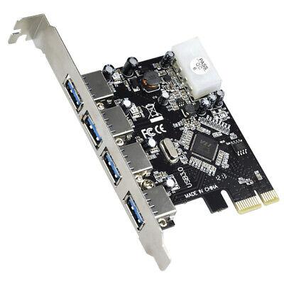 PCI-E PCI Express to 4 Port USB3.0 USB 3.0 Hub Controller Card Adapter 2