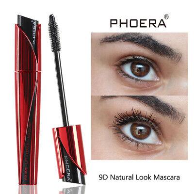 Phoera 9D Best Black Waterproof Mascara 3D Fiber Lash Makeup Eyelashes Volumizer 5