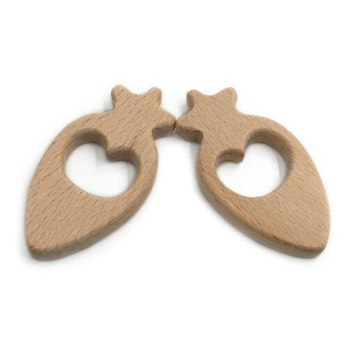 Baby Radish Teether Wood New  Accessory Handmade Bracelet Food Grade Toys G 3