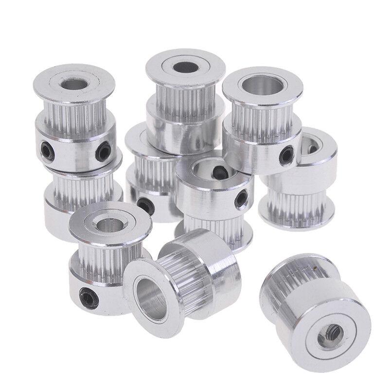 5Pcs gt2 timing pulley 20t 5//6.35//8mm bore for 6mm belt reprap 3d printer  .z
