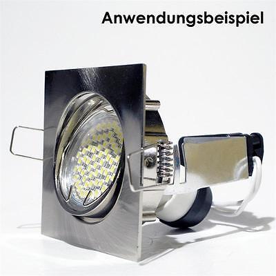 5 X Luminaire à Encastrer Carré Pivotant Gu10 230v Satiné Spot Encastré Gu 10 5