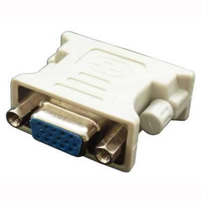 Adaptador Conversor de DVI-D 24+1 pines Dual-LINK Macho VGA A Hembra 15 Pin 2