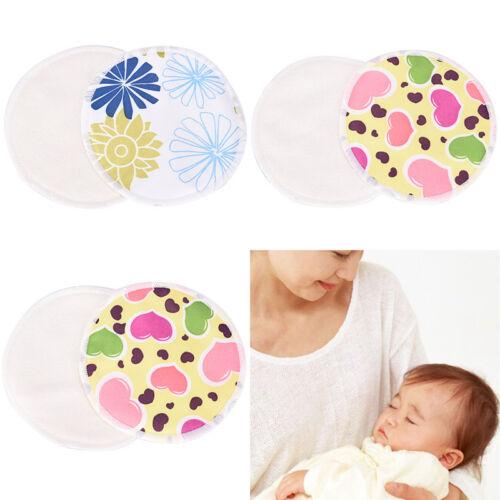 Bamboo Reusable Breast Pads Nursing Maternity Organic Washable Pad WaterproofGNC 4