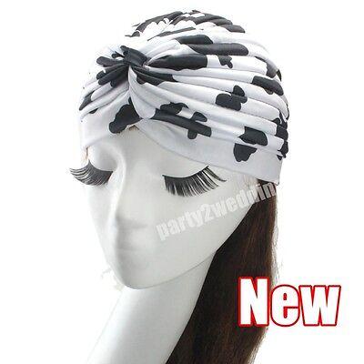Ladies Stretch Headcover Head Wrap Beanie Chemo Bandana Animal Print Hat Turban 4