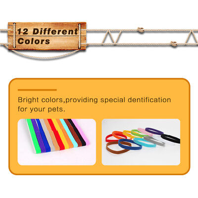 12 Colours Whelping ID Collar Bands Pet Puppy Kitten Identification Collar Tags 2