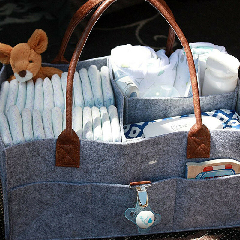 Baby Organizer Bag Portable Diaper Nappy Bottle Changing Divider Storage