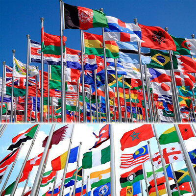 New Design 3'x5' FT National Flag world Country Flags Polyester America Flags