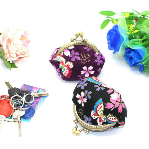 Collectable Handmade Japanese Style Fans Clasp Coin Purse Bag Change Wallets G 6