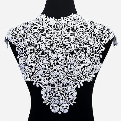 1 PC Applique Lace Fabric Sewing Craft Embellishments Trims DIY Neck Collar 6