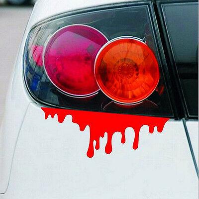 2 X Reflektierende Warnung Auto Aufkleber Blut Entlüften Aufkleber Auto Decor WH